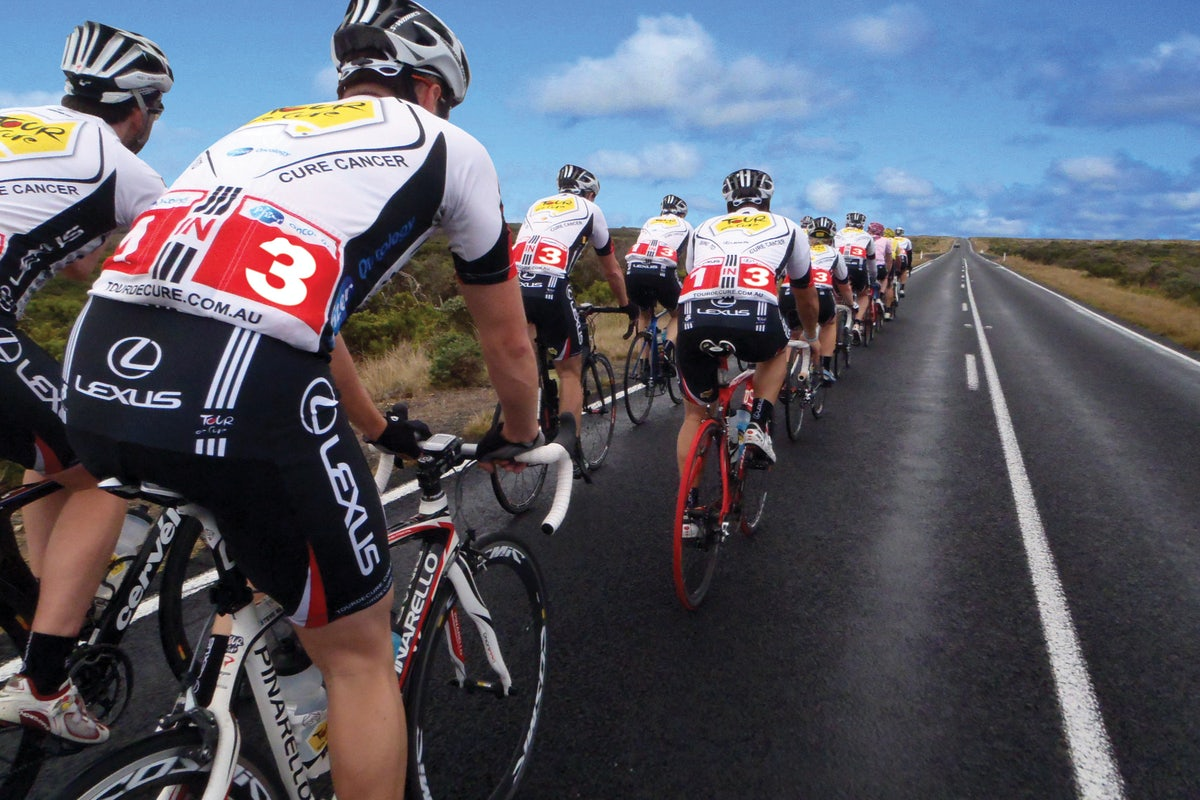 A picture of the Tour De Cure ride Adge Hotel Sydney Sponsored