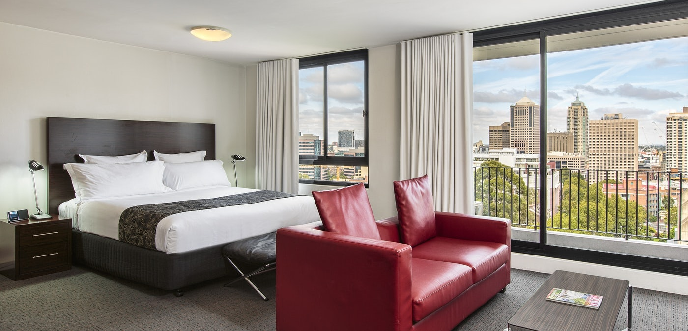 A picture of a hotel room at Cambridge Hotel Surry Hills
