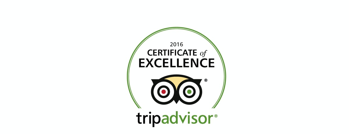 A logo for the certificate of excellence awarded to Adge Hotel in Sydney Surry Hills