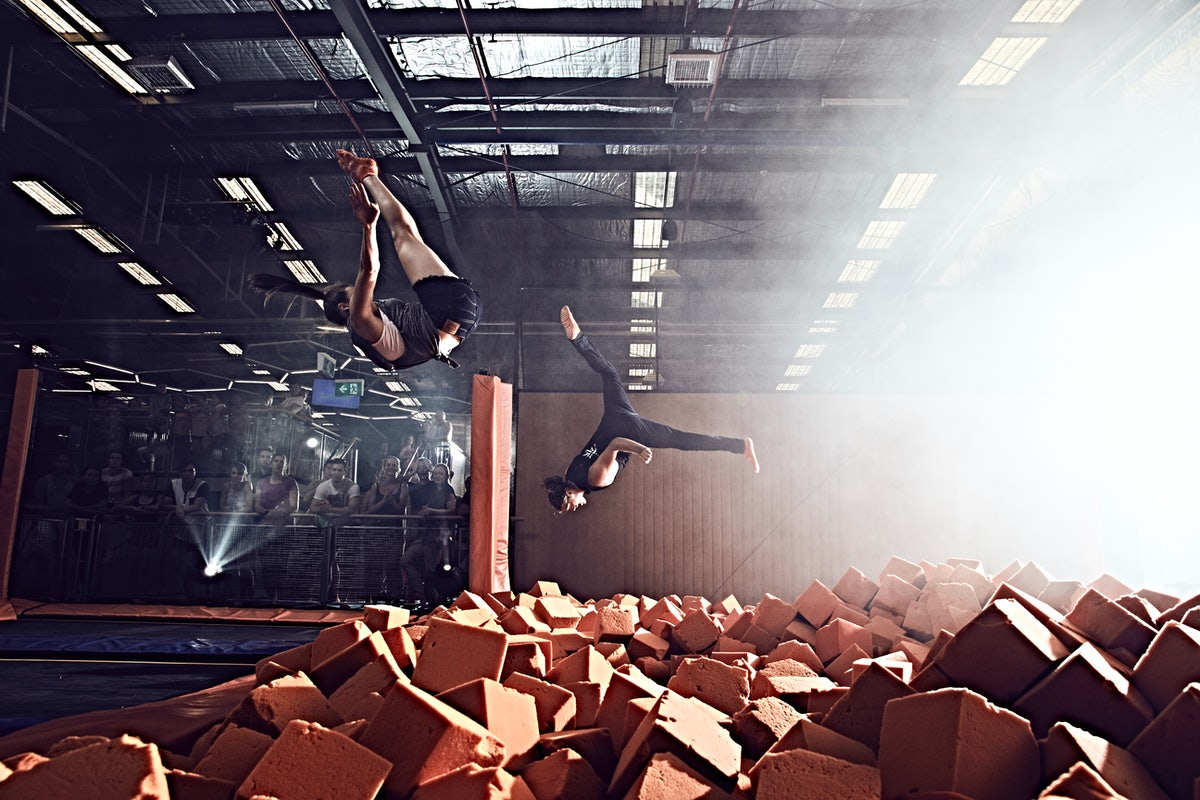 A picture of Sky Zone in Alexandria which is only a short drive from Surry Hills