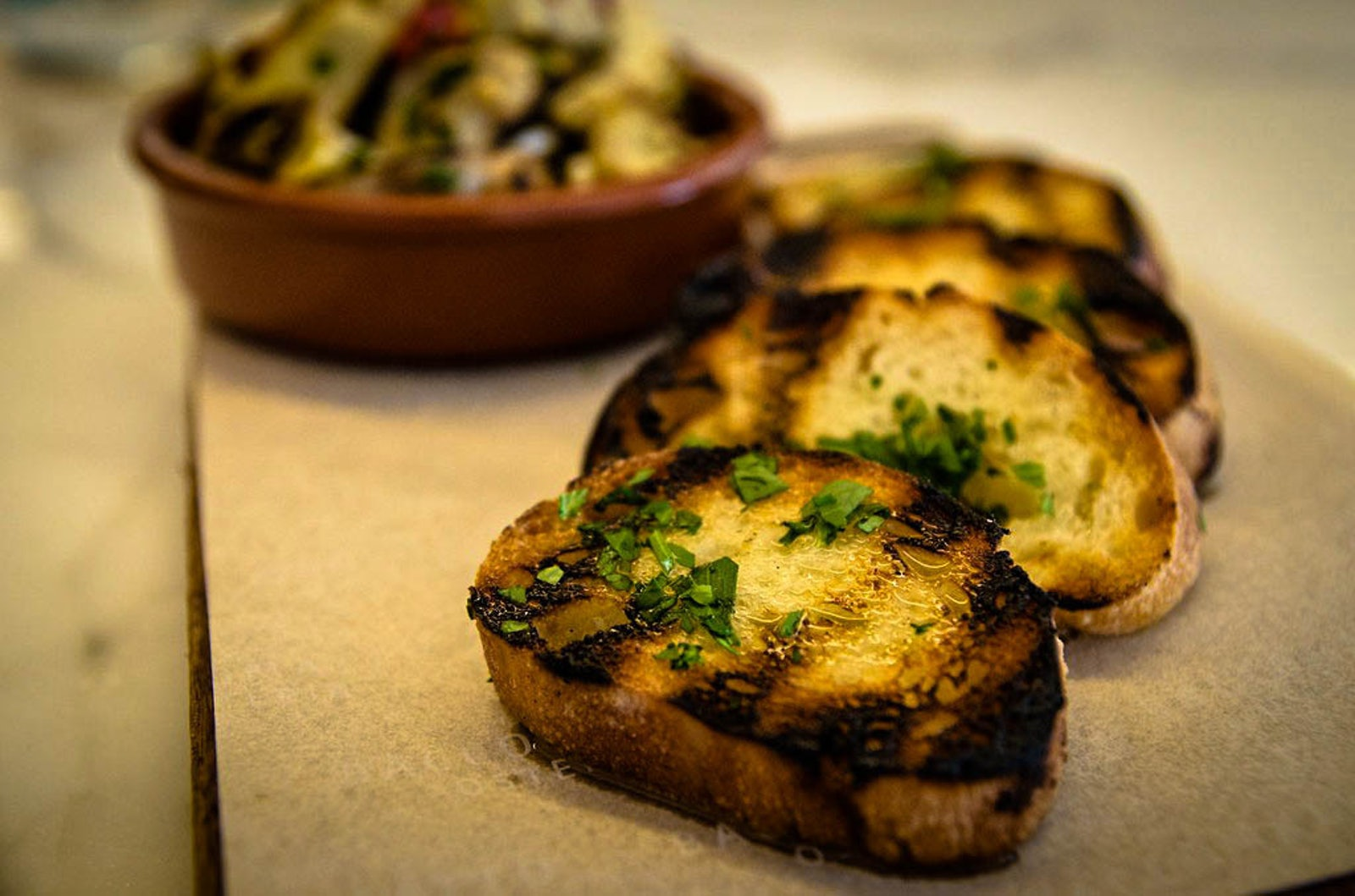 A picture of Garlic Bread from Cambridge Hotel Italian restaurant in Surry Hills