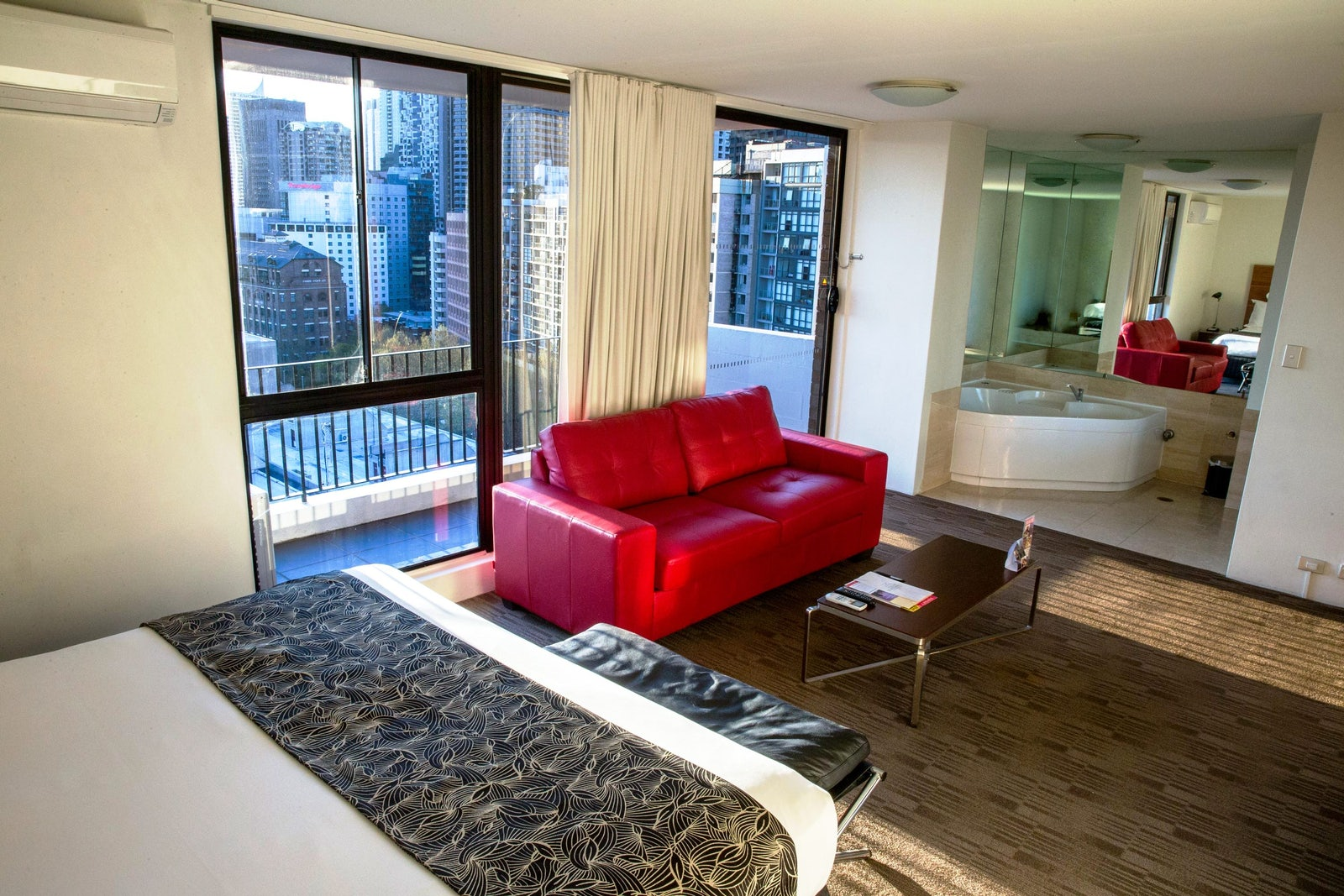 A photo from the spa room at the Cambridge Hotel in Surry Hills Sydney