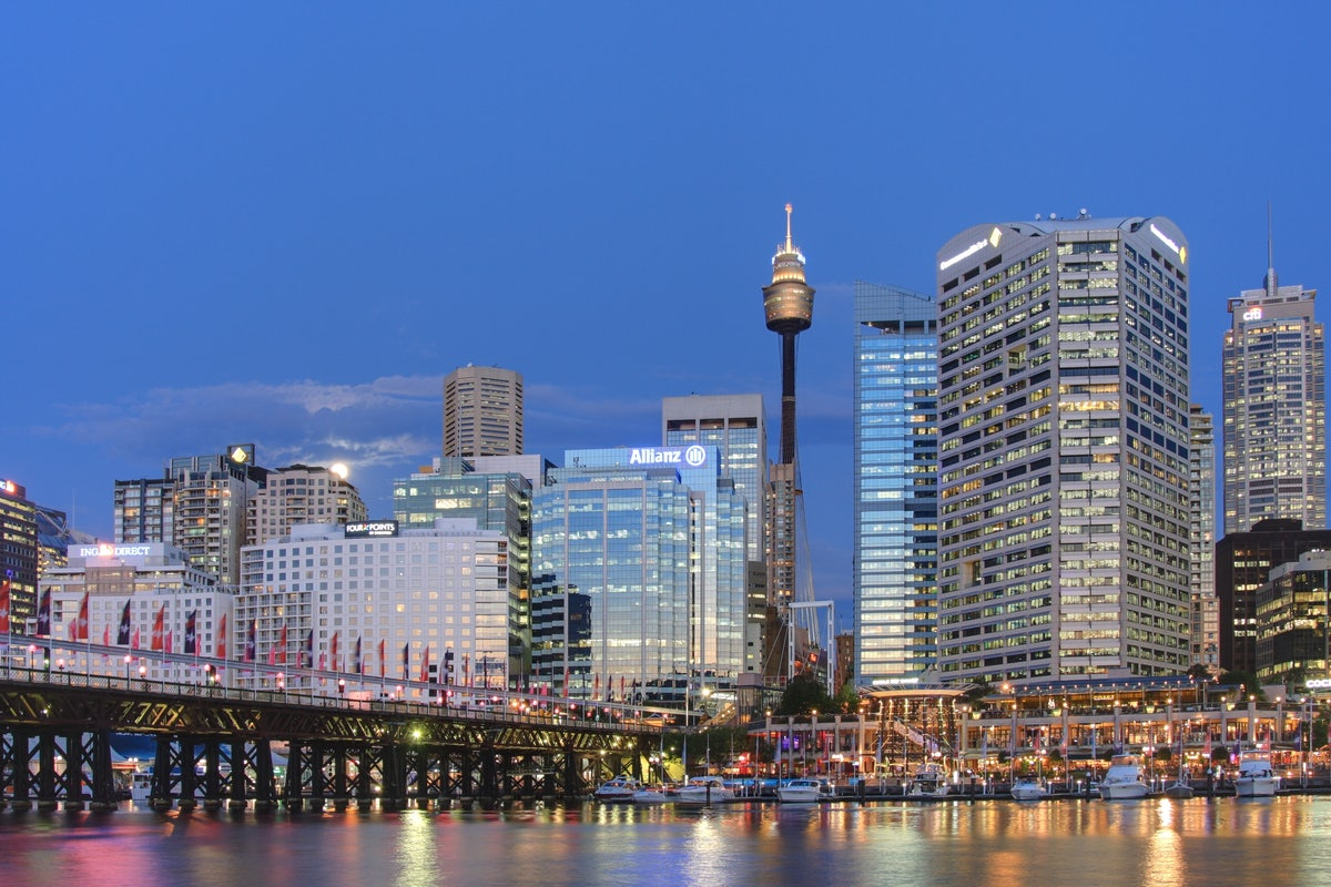 A picture of the Darling Harbour located in Sydney Near Riley Street in Surry Hills