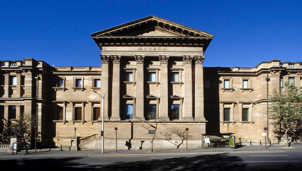 A picture of the Australian Museum near Riley Street in Sydney