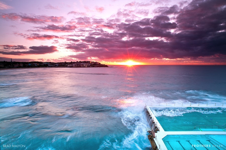 A picture of Bondi Beach a short distance from Surry Hills in Sydney