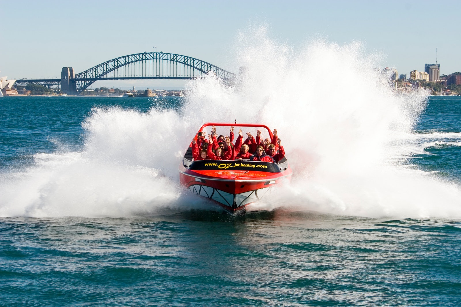 A picture of a jet boat on the Circular Quay near Surry Hills Sydney