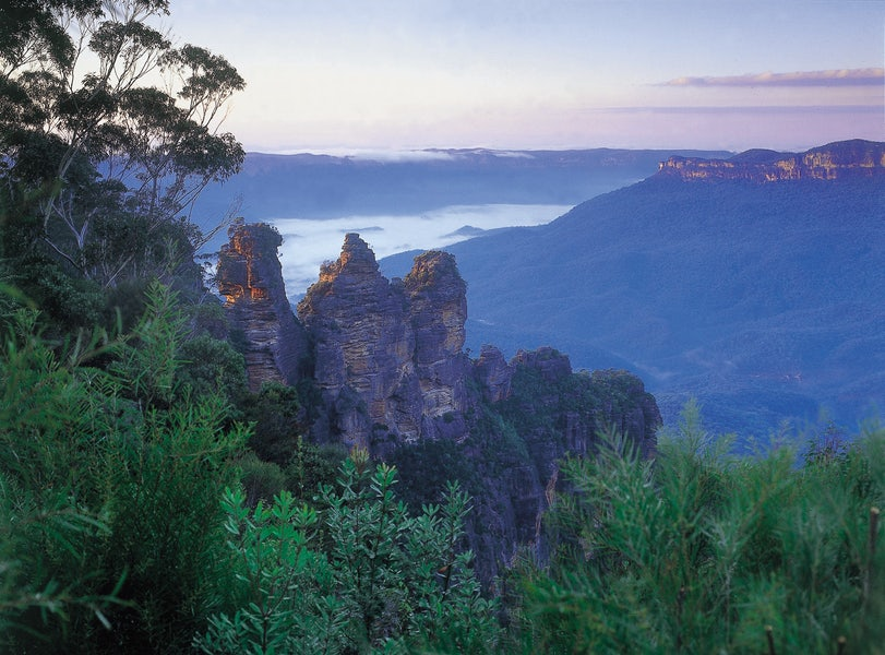 A picture of the Blue Sisters in Sydney an easy drive from Surry Hills in Sydney
