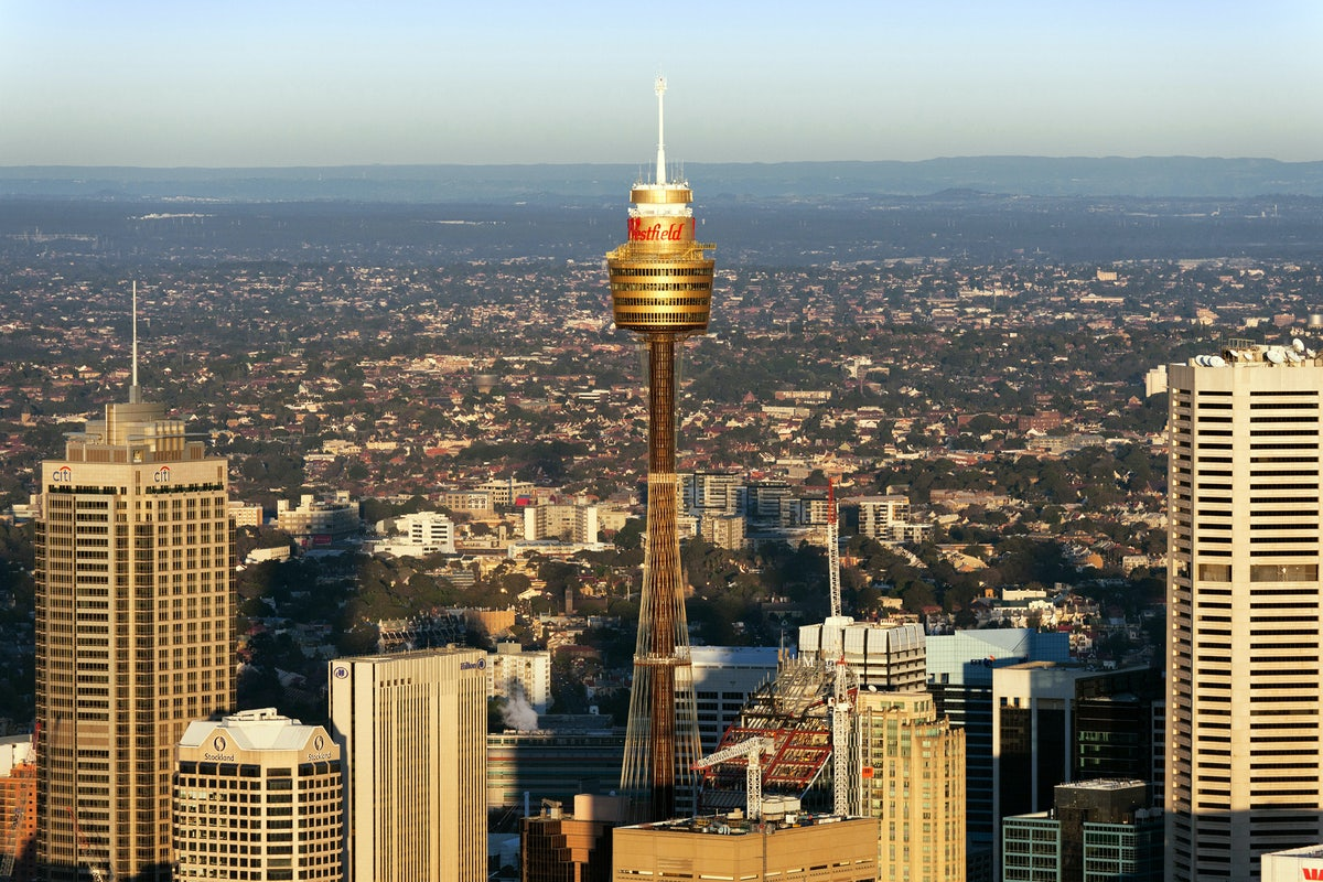 A picture of the Sydney Tower located a short drive from Cambridge Hotel in Surry Hills