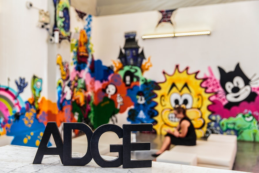 A picture of a Adge sign at Adge Hotel in Surry Hills on Riley Street