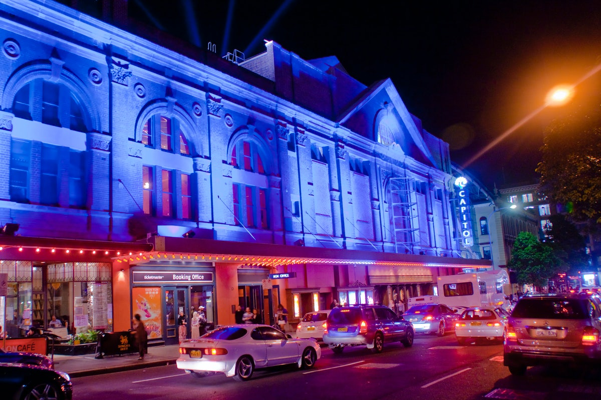 A picture of the Capitol Theatre located a short walk from Riley Street in Surry Hills