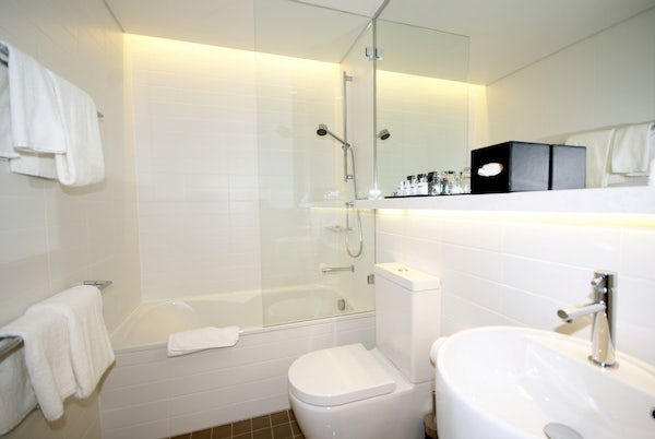 cityscape two bedroom aparment bathroom