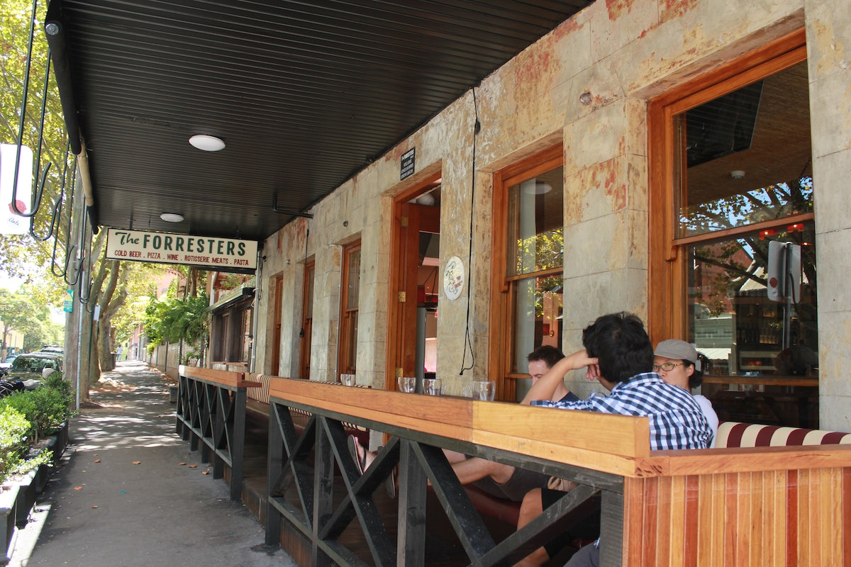 A picture of The Forresters pub in Surry Hills
