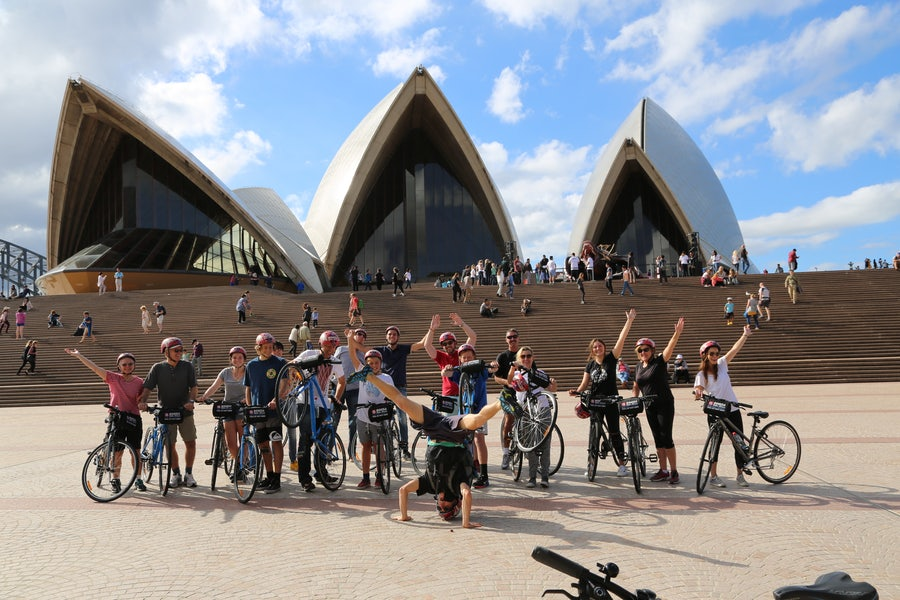 A picture of a Bonza Bike Tour which begins near Adge and Cambridge Hotel in Sydney