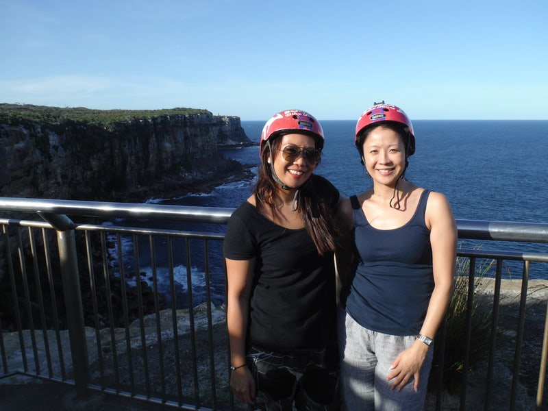 A picture of two girls after the Conza Bike Tours which start near Cambridge and Adge Hotel in Sydney