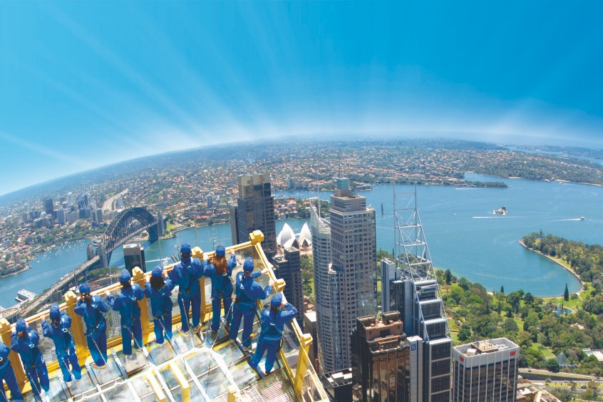 A picture of the view from the Sydney Tower Eye a short distance from Riley Street